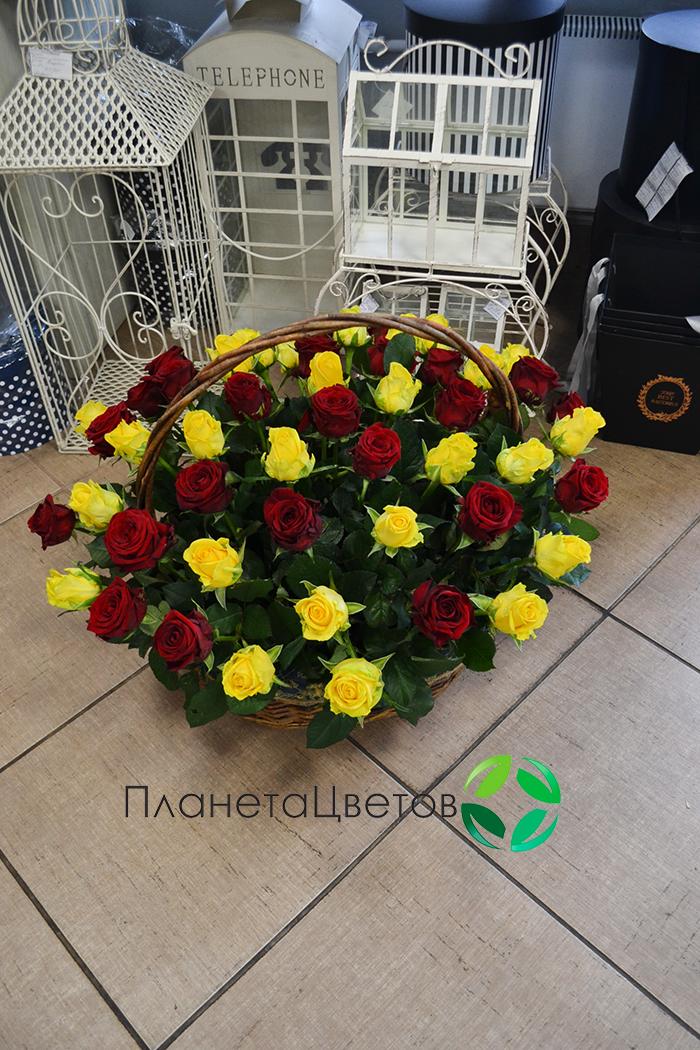 Цветочная корзина №04