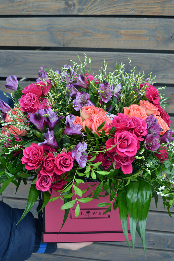 Цветочная коробка №62