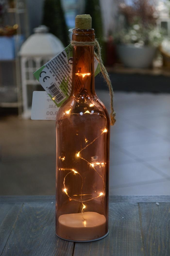 Бутылка с огоньками