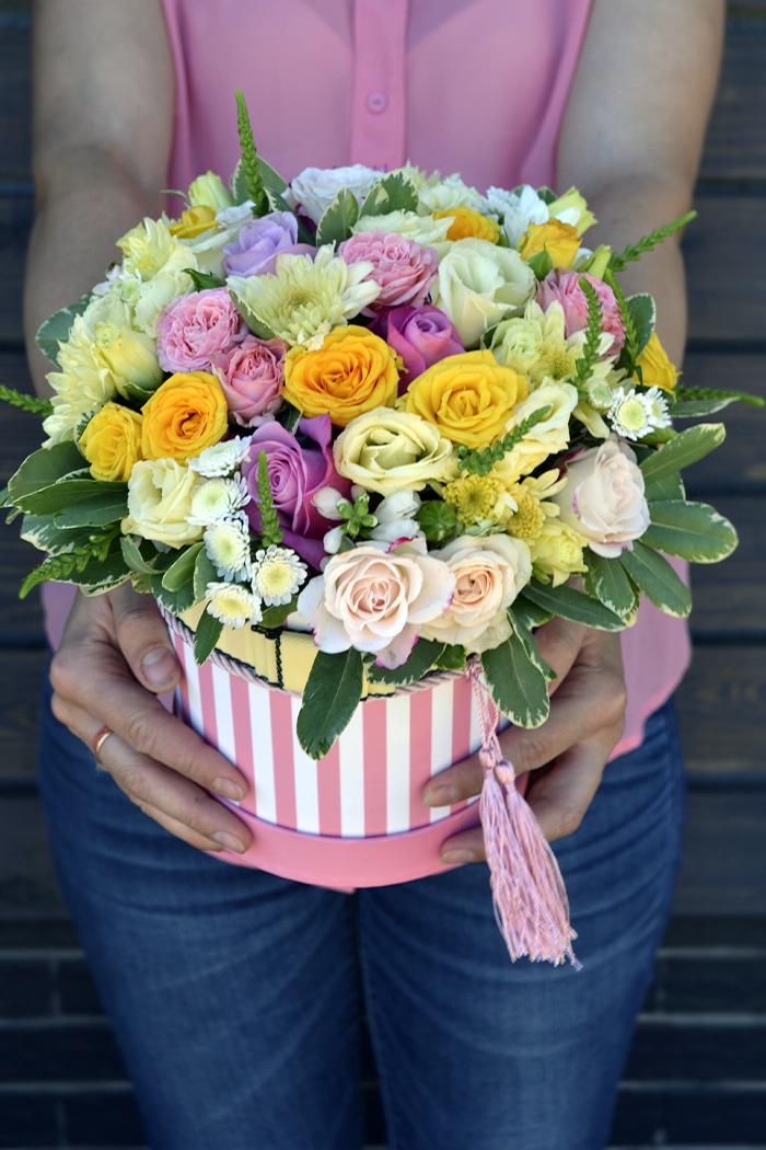 Цветочная коробка №93